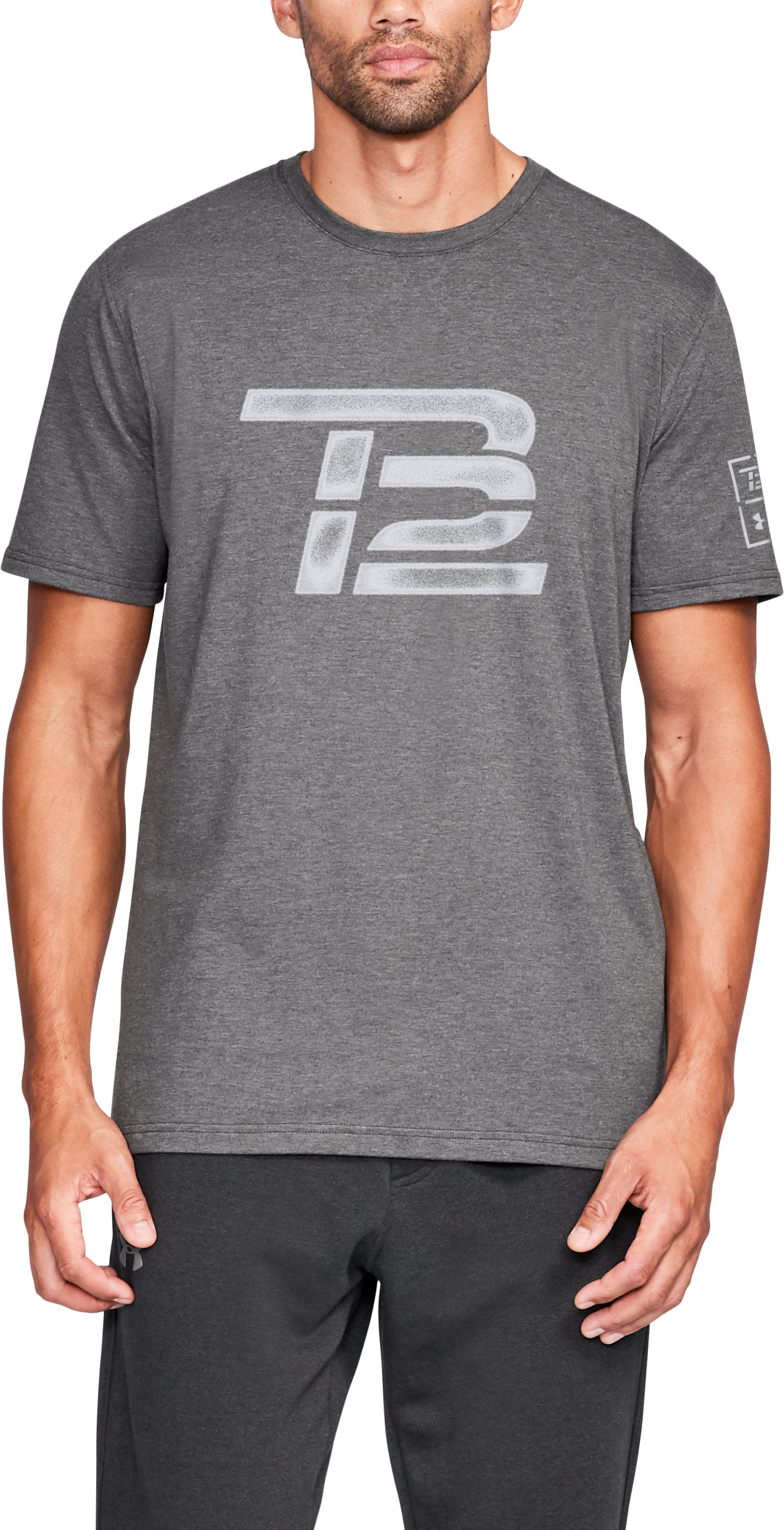 Men's TB12 Vintage Logo T-Shirt, Charcoal Medium Heather,