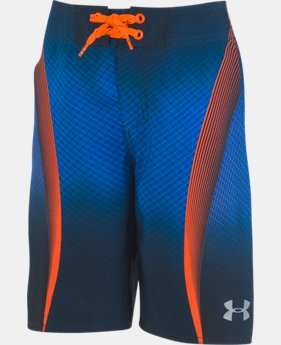 Boys' UA Logo Slash Boardshorts  1  Color Available $43