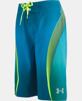 Boys' UA Logo Slash Boardshorts   $43
