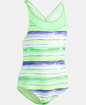 Girls' UA Water Stripe 1-Piece  1  Color Available $47