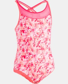 Girls' UA Aqua Geo 1-Piece FREE U.S. SHIPPING 1  Color Available $40