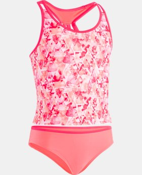 Girls' UA Aqua Geo Tankini  1  Color Available $40