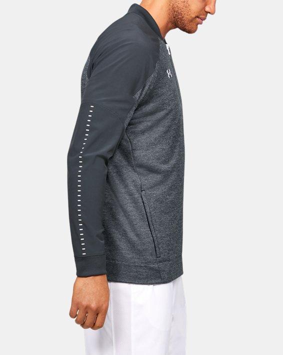 Men's UA Knit Warm-Up Jacket, Gray, pdpMainDesktop image number 3