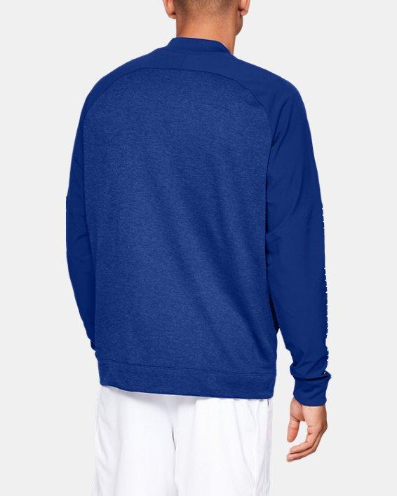 Men's UA Knit Warm-Up Jacket, Blue, pdpMainDesktop image number 2