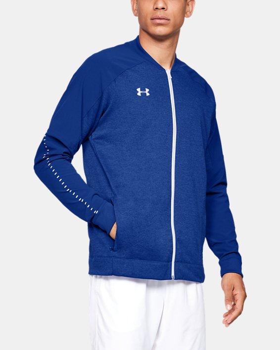Men's UA Knit Warm-Up Jacket, Blue, pdpMainDesktop image number 0