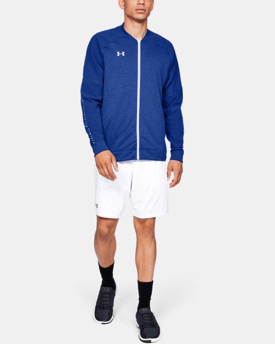 Men's UA Knit Warm-Up Jacket, Blue, pdpMainDesktop image number 1