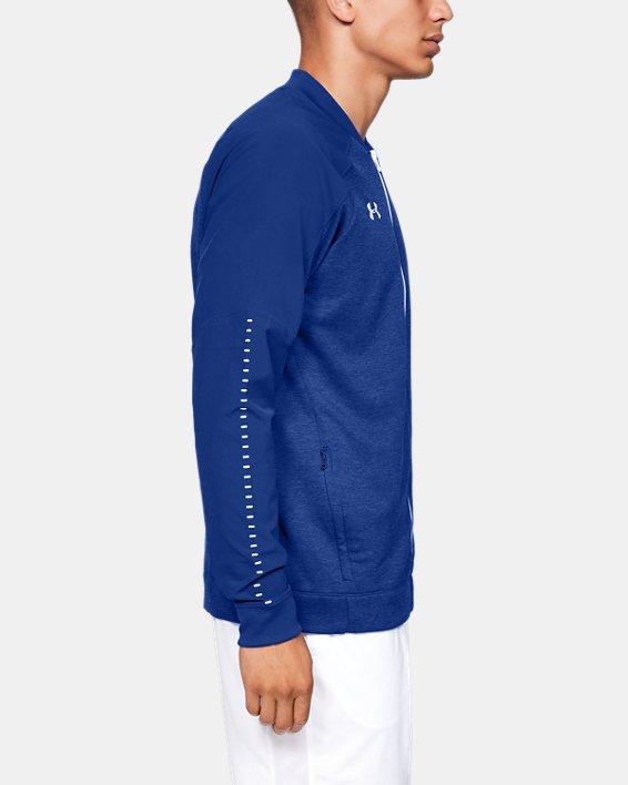 Men's UA Knit Warm-Up Jacket, Blue, pdpMainDesktop image number 3