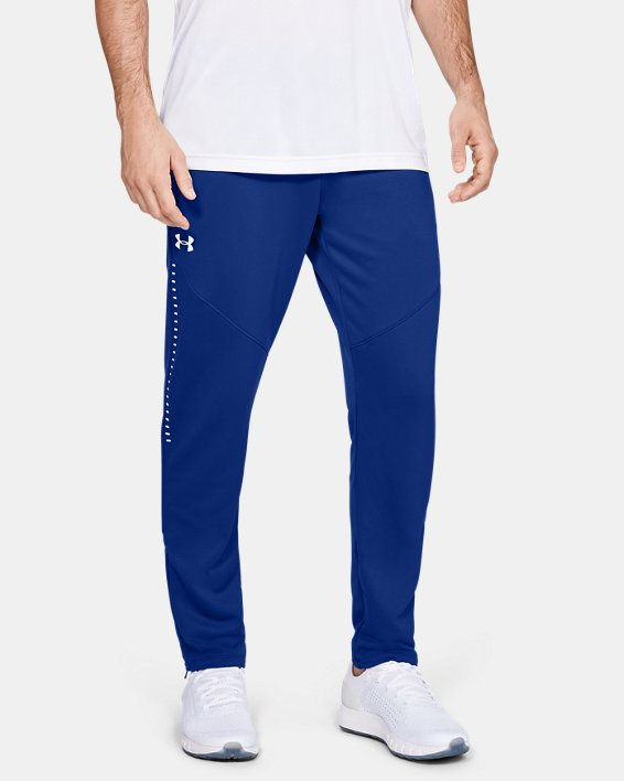 Men's UA Knit Warm-Up Pants, Blue, pdpMainDesktop image number 0