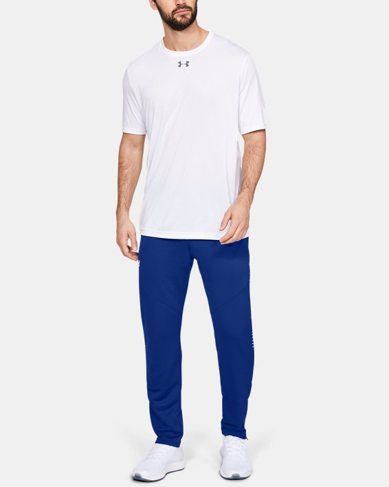 Men's UA Knit Warm-Up Pants, Blue, pdpMainDesktop image number 1