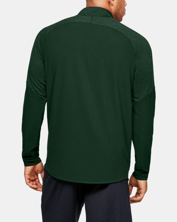 Men's UA Knit Warm-Up ¼ Zip, Green, pdpMainDesktop image number 2