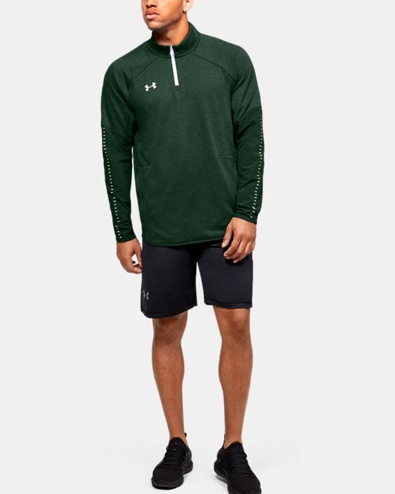 Men's UA Knit Warm-Up ¼ Zip, Green, pdpMainDesktop image number 1