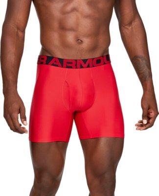 Under Armour Mens Tech 6-Inch Boxer jock 2-Pack