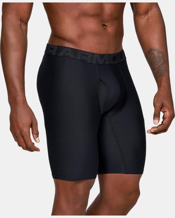 "Men's UA Tech™ 9"" Boxerjock® – 2-Pack, Black, pdpMainDesktop image number 0"