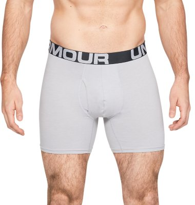 """Under Armour Mens Charged Cotton 6/"""" Boxerjock 3 Pack Underwear"""