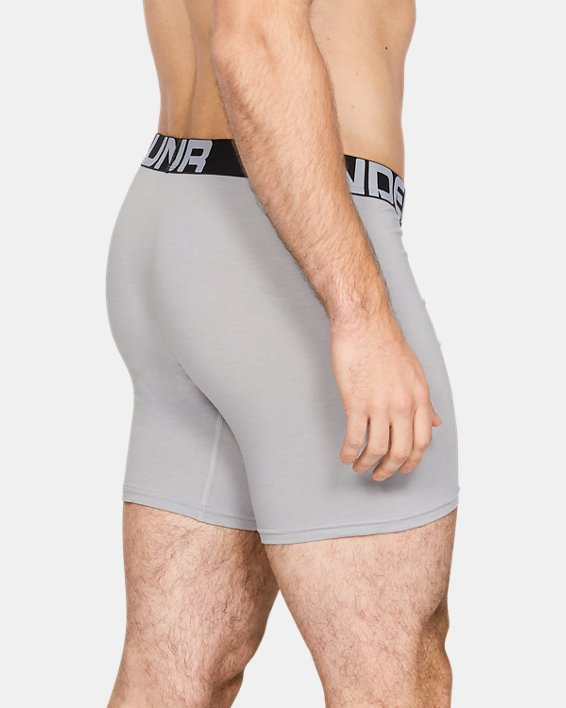 "Men's Charged Cotton® 6"" Boxerjock® – 3-Pack, Gray, pdpMainDesktop image number 1"