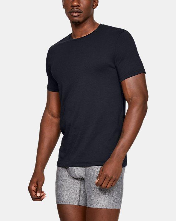 Men's Charged Cotton® Crew Undershirt – 2-Pack, Black, pdpMainDesktop image number 0