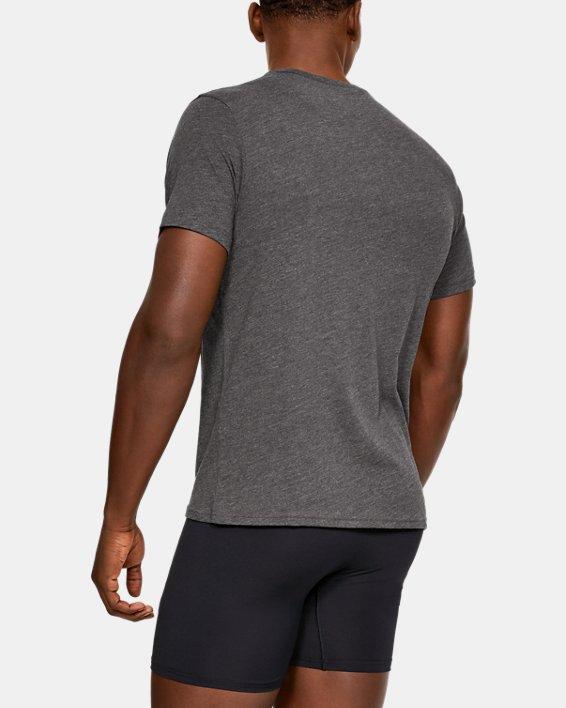Men's Charged Cotton® V-Neck Undershirt – 2-Pack, Gray, pdpMainDesktop image number 1