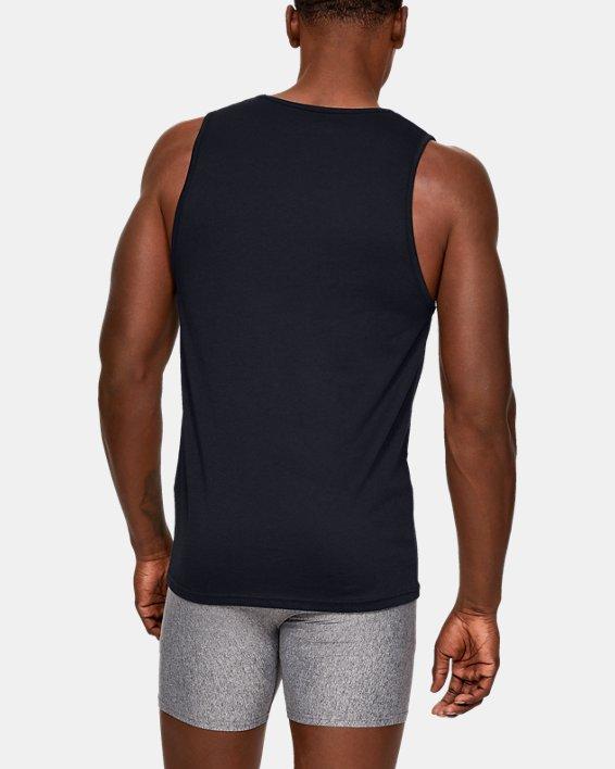 Men's Charged Cotton® Tank – 2-Pack, Black, pdpMainDesktop image number 1