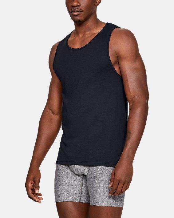 Men's Charged Cotton® Tank – 2-Pack, Black, pdpMainDesktop image number 0