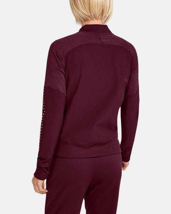 UA - Veste d'échauffement en tricot pour femme, Red, pdpMainDesktop image number 2