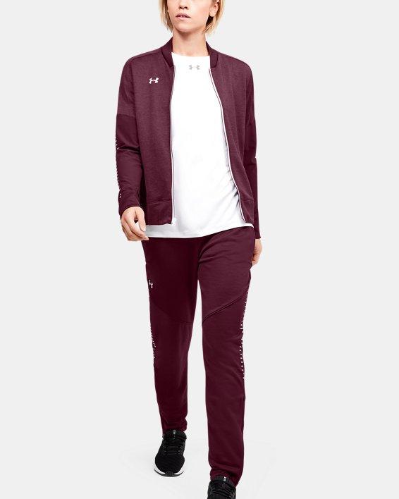 UA - Veste d'échauffement en tricot pour femme, Red, pdpMainDesktop image number 1