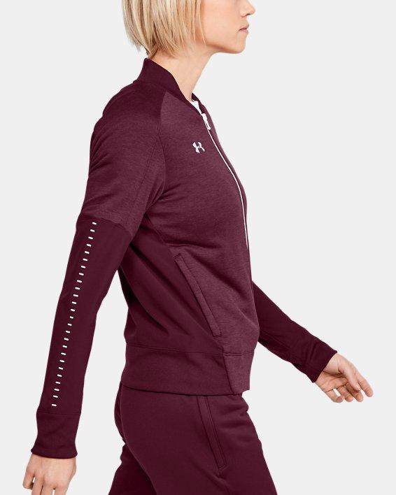 UA - Veste d'échauffement en tricot pour femme, Red, pdpMainDesktop image number 3
