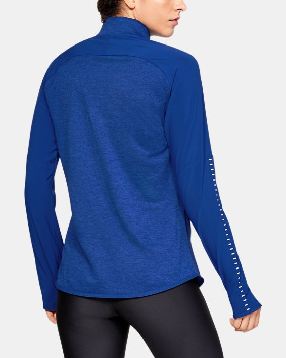 Women's UA Knit Warm-Up ½ Zip, Blue, pdpMainDesktop image number 2