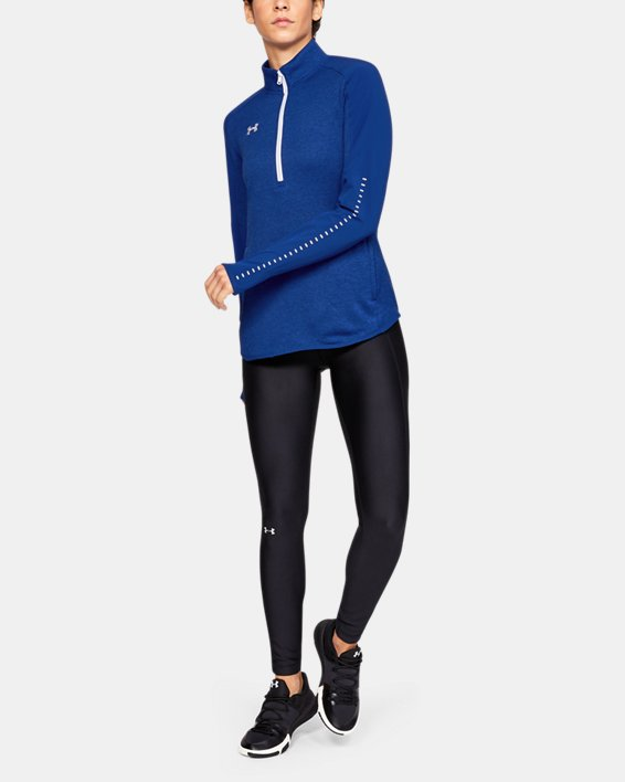 Women's UA Knit Warm-Up ½ Zip, Blue, pdpMainDesktop image number 1