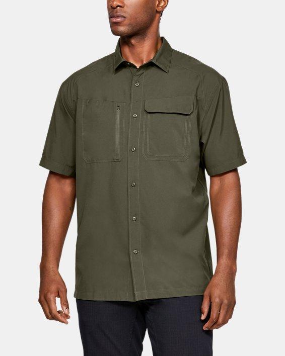 Men's UA Tac Hunter Short Sleeve, Green, pdpMainDesktop image number 0