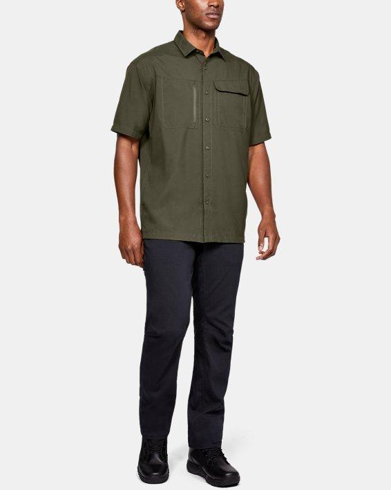 Men's UA Tac Hunter Short Sleeve, Green, pdpMainDesktop image number 1