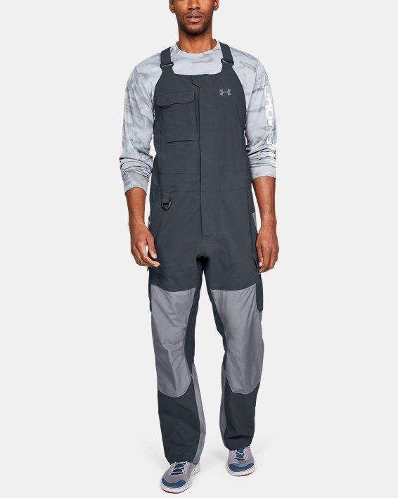 Men's UA GORE-TEX®  Shoreman Bib, Gray, pdpMainDesktop image number 0