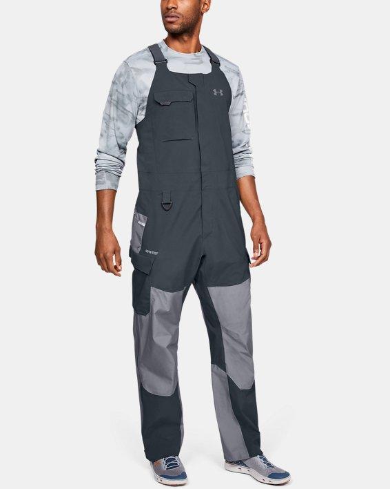 Men's UA GORE-TEX®  Shoreman Bib, Gray, pdpMainDesktop image number 1