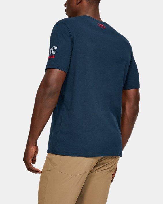 Men's UA Freedom USA Chest T-Shirt, Navy, pdpMainDesktop image number 2