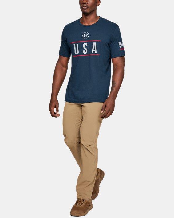 Men's UA Freedom USA Chest T-Shirt, Navy, pdpMainDesktop image number 1