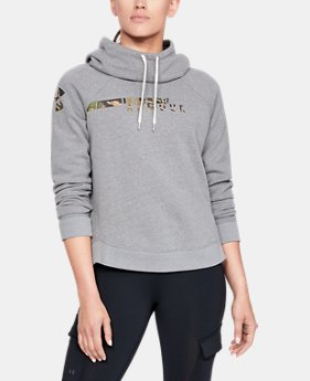Women's UA Favorite Fleece Camo Logo  1  Color Available $60