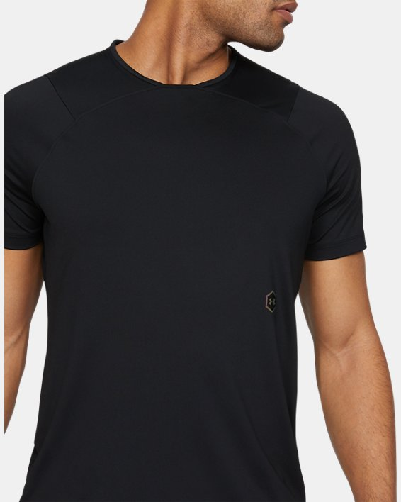 Men's UA RUSH™ Short Sleeve, Black, pdpMainDesktop image number 1