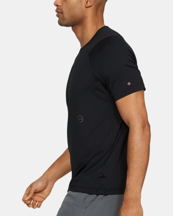 Men's UA RUSH™ Short Sleeve, Black, pdpMainDesktop image number 3