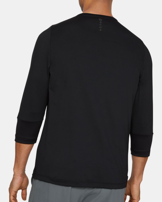 Men's UA RUSH™ ¾ Sleeve, Black, pdpMainDesktop image number 2