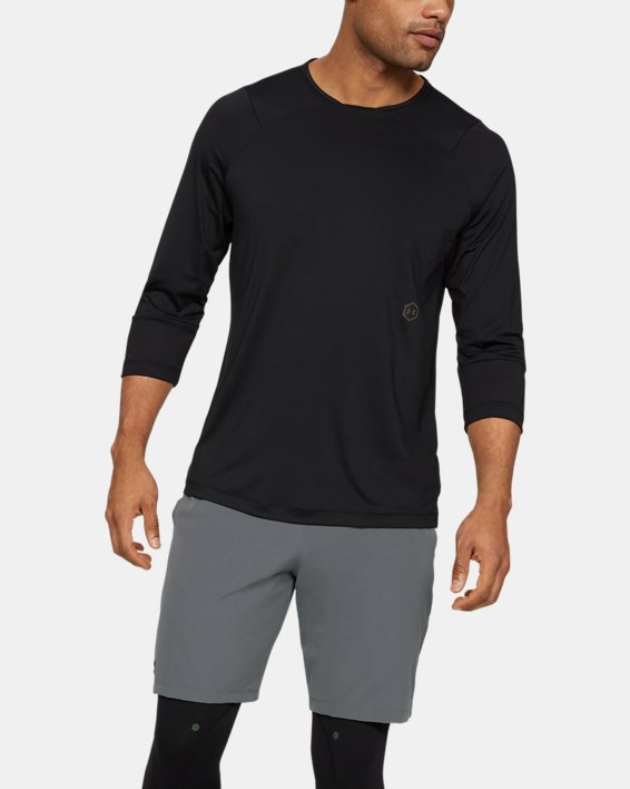 Men's UA RUSH™ ¾ Sleeve, Black, pdpMainDesktop image number 1