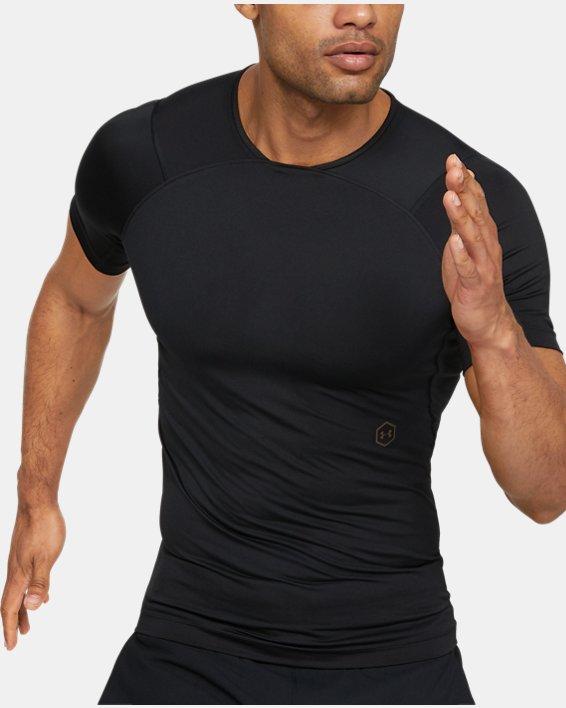 Men's UA RUSH™ Compression Short Sleeve, Black, pdpMainDesktop image number 0