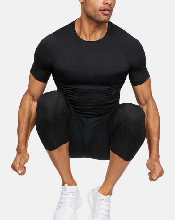 Men's UA RUSH™ Compression Short Sleeve, Black, pdpMainDesktop image number 1