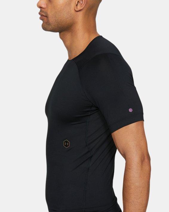 Men's UA RUSH™ Compression Short Sleeve, Black, pdpMainDesktop image number 3