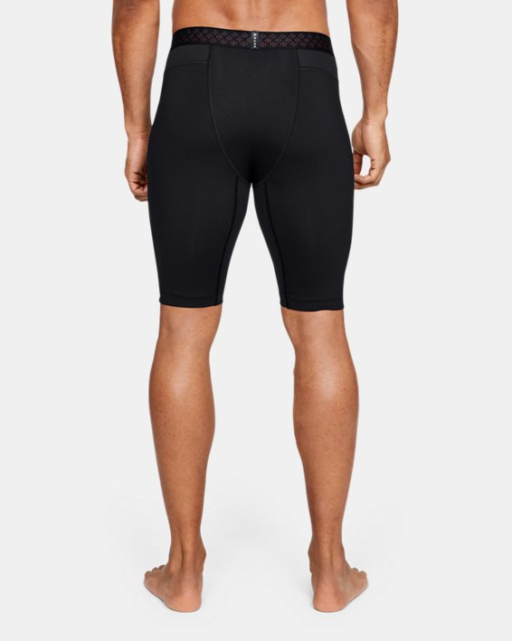 Short de compression UA RUSH pour homme, Black, pdpMainDesktop image number 2
