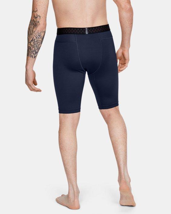 Men's UA RUSH™ Compression Shorts, Navy, pdpMainDesktop image number 2