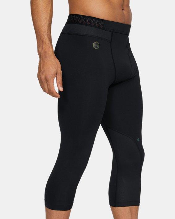 Men's UA RUSH™ ¾ Leggings, Black, pdpMainDesktop image number 0