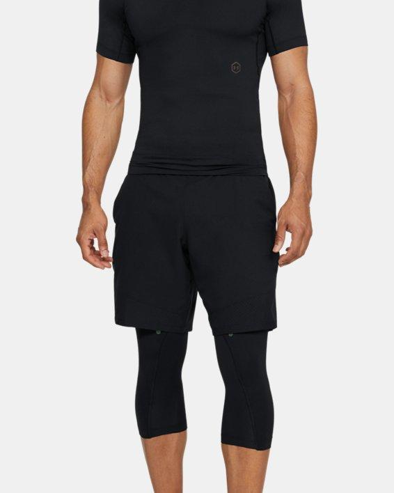 Men's UA RUSH™ ¾ Leggings, Black, pdpMainDesktop image number 1