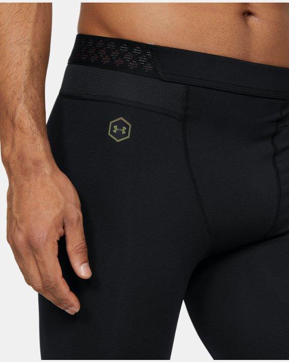 Men's UA RUSH™ ¾ Leggings, Black, pdpMainDesktop image number 3