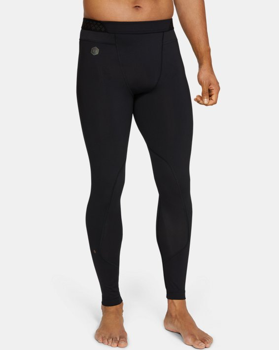 Men's UA RUSH™ Leggings, Black, pdpMainDesktop image number 1
