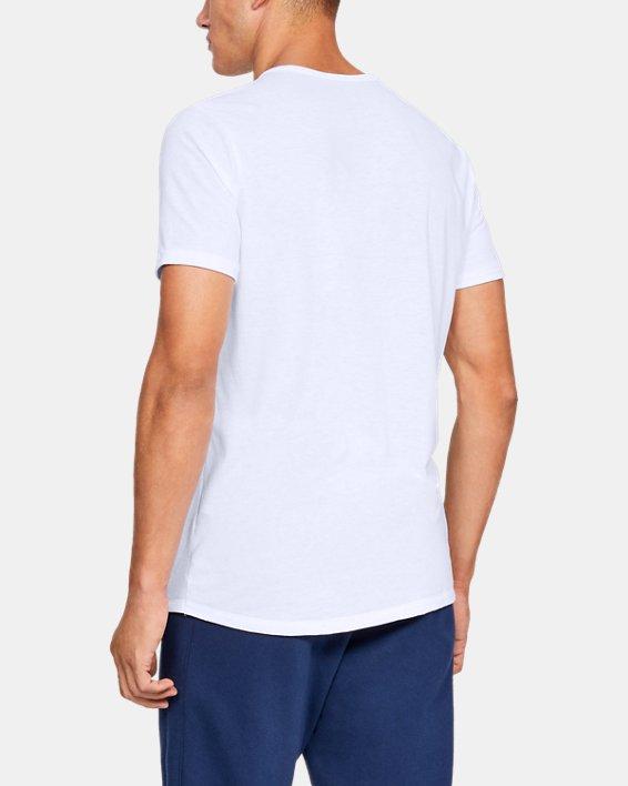 Men's UA Sportstyle Gym Issue Short Sleeve T-Shirt, White, pdpMainDesktop image number 2