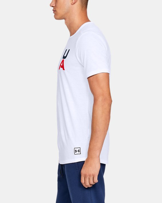 Men's UA Sportstyle Gym Issue Short Sleeve T-Shirt, White, pdpMainDesktop image number 3